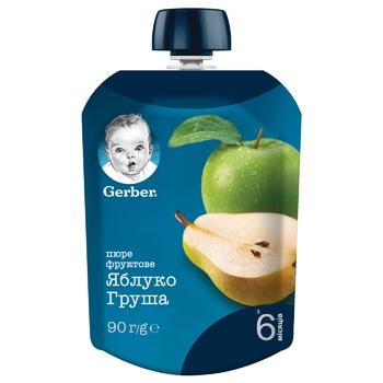 Пюре Gerber Яблуко груша 90г