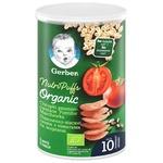 Снек Gerber Organic пшенично-вівсяний з томатами та морквою 35г
