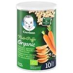 Снек Gerber Organic пшенично-вівсяний з морквою та апельсинами 35г