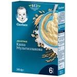 Каша Gerber молочная мультизлаковая для детей с 6 месяцев 240г