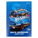 Картон Kite Hot Wheels білий А4 10 аркушів