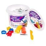 Набір для дитячої творчості Genio Kids Тісто-пластилін 15 кольорів