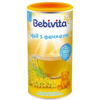 Чай Bebivita из фенхеля сухой быстрорастворимый для детей с 1 недели 200г - купить, цены на Ашан - фото 1