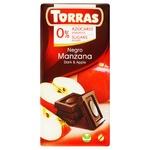 Chocolate black Torras with apple sugar free 75g Spain