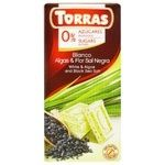 Torras White Chocolate with Seaweed and Dark Salt without Sugar and Gluten 75g