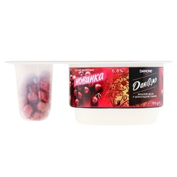 Danissimo Fantasy Cherry Jelly in Chocolate Glaze Yoghurt 6,8% 105g - buy, prices for CityMarket - photo 1