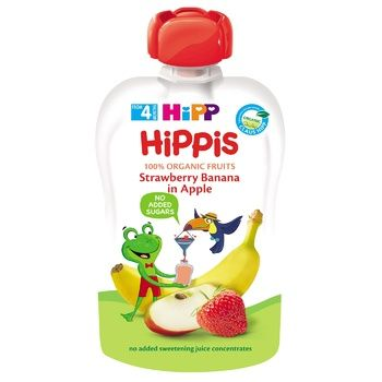 HiPP Hippis for children from 4 months banana-apple-strawberry puree 100g - buy, prices for CityMarket - photo 1