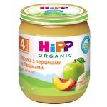 Пюре HiPP Яблука з персиками та бананами 125г