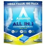 Astonish All in 1 Dishwasher Tablets 100pcs