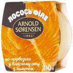 Лосось Arnold Sorensen по-норвежски в собственном соку с лимоном 240г