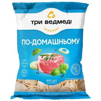 Tri Medvedi Po-Domashnyomy Meat Dumplings 800g - buy, prices for CityMarket - photo 1
