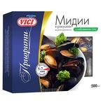 Мідії у мушлях Vici Пріоріті варено-морожені у власному соку 500г