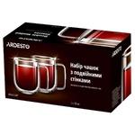 Набір чашок Ardesto з подвійними стінками з ручками 250мл 2шт
