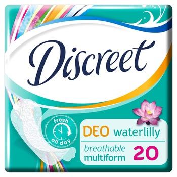 Прокладки ежедневные Discreet Water Lily Deo 20шт