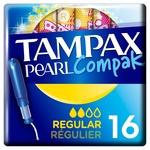 Tampax Pearl Compak Regular Tampons 16pcs