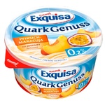 Exquisa with Peach-Passion Fruit Flavor Cottage Cheese Dessert 0,2% 500g