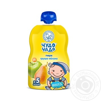 Chudo-Chado pear-apple puree without sugar for children from 4 months 90g - buy, prices for MegaMarket - image 1