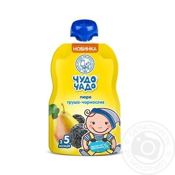 Chudo-Chado pear and prunes puree for children from 5 months 90g - buy, prices for MegaMarket - image 1