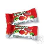 Candy Zhytomurski lasoschi Yoghurtelle strawberries with cream Ukraine