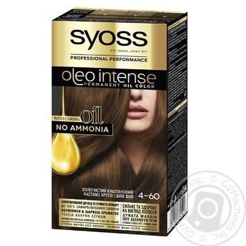 Краска для волос SYOSS Oleo Intense без аммиака золотистый каштановый 4-60