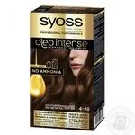 Краска для волос без аммиака SYOSS Oleo Intense 4-18 Шоколадный каштановый 115мл