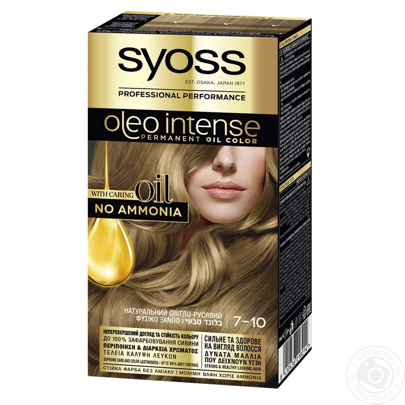 Купить 486, Краска для волос Syoss Oleo Intense 7-10 Натуральный светло-русый без аммиака 115мл