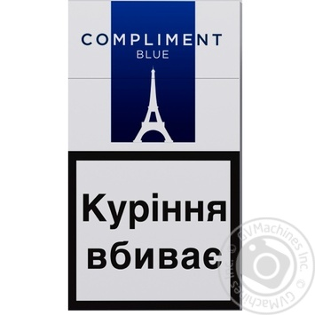 Сигареты Compliment super slim blue - купить, цены на Ашан - фото 1