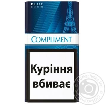 Цигарки Compliment demi blue slim - купити, ціни на Восторг - фото 2