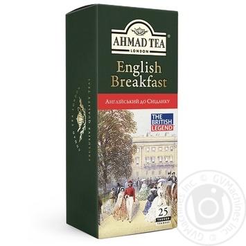 Чай чорний пакетований Ахмад Англійський до сніданку 25х2г - купити, ціни на Novus - фото 1