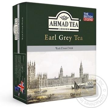 Чай чорний Ахмад Граф Грей пакетований 100х2г - купити, ціни на Метро - фото 1