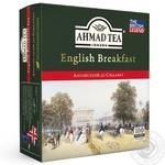 Чай чорний пакетований Ахмад Англійський до сніданку 100х2г