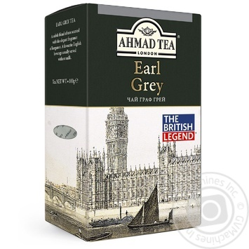 Чай черный с бергамотом Ахмад Граф Грей 100г