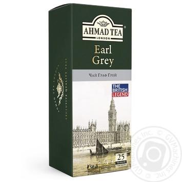 Чай черный Ахмад Граф Грей пакетированный 25х2г - купить, цены на Фуршет - фото 1