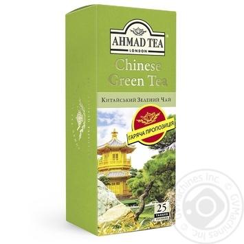 Чай Китайський зелений Ахмад пакетований 25х1,8г - купити, ціни на Novus - фото 1