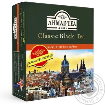 Чай Классический черный Ахмад пакетированный 100х2г