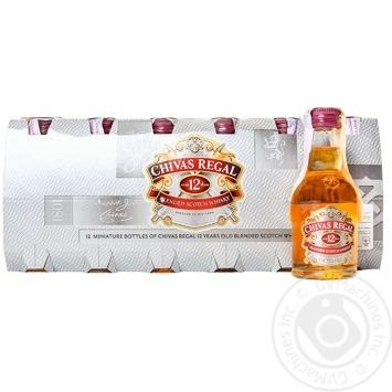 Виски Chivas Regal 12 лет 40% 50мл