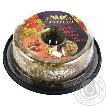 Крем-сир Castello з помідором і базиліком 65% 125г - купити, ціни на МегаМаркет - фото 1