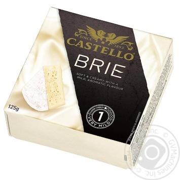 Сыр Castello Бри мягкий с белой плесенью 50% 125г - купить, цены на МегаМаркет - фото 1