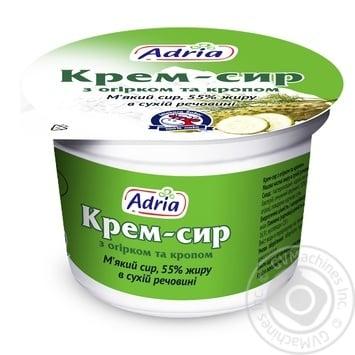 Крем-сыр Адриа с огурцом и укропом 55% 100г - купить, цены на МегаМаркет - фото 1