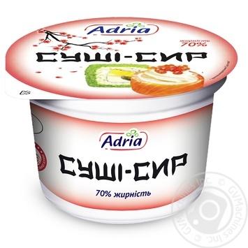 Суши-сыр Адрия 70% 250г - купить, цены на МегаМаркет - фото 1