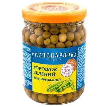 Peas green Gospodarochka  250g  twist glass jar