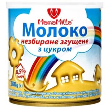 Mama Milla Whole Condensed Milk with Sugar 8,5% 380g