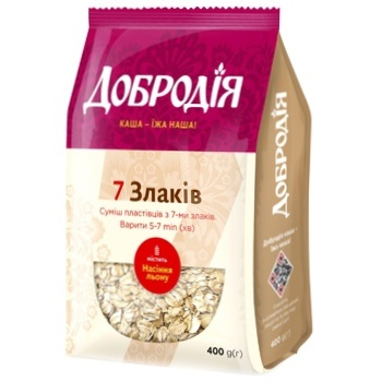Dobrodiya 7 Cereals Flakes Mix 400g - buy, prices for Auchan - photo 2