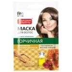 Маска для волос Фито Косметик Горчичная с касторовым маслом и медом 30мл