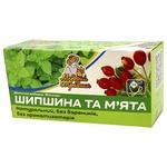 Herbal tea Mudryy Travnyk Rosehip and Mint 20х2g teabags Ukraine