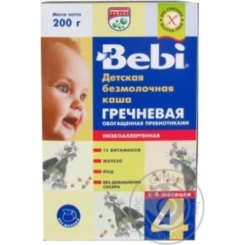 Каша детская Беби Гречневая безмолочная сухая быстрорастворимая низкоаллергенная обогащенная пребиотиками с 4 месяцев 200г