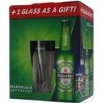 Промопак Пиво Heineken 0,33*5шт +бокал 0,25л