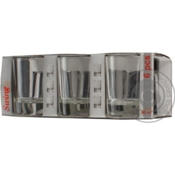 Набор стопок Swing 50мл 6шт - купить, цены на Novus - фото 2