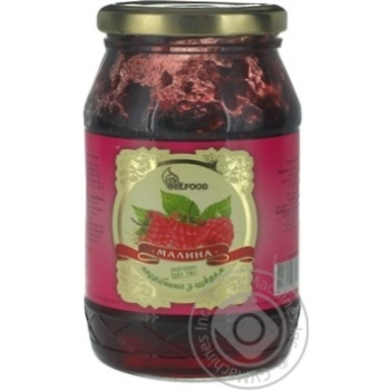 Jam Belfood raspberry with sugar 480g glass jar - buy, prices for Novus - image 2
