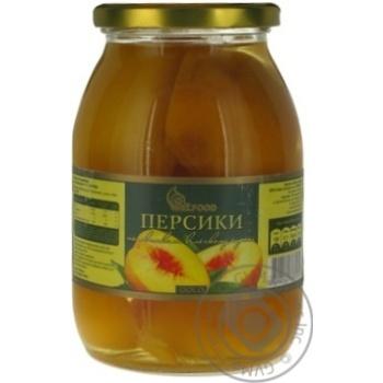 Персики Бэлфуд Голд половинками в легком сиропе 600г Болгария - купить, цены на Novus - фото 1
